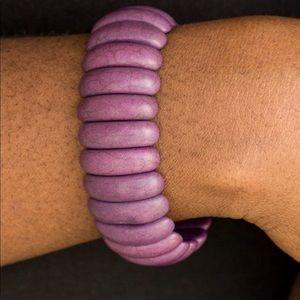 Jewelry - Purple Wooden Bracelet